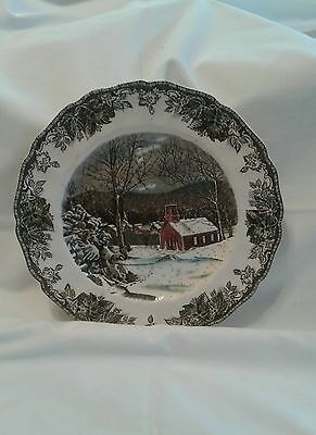Johnson Bros Friendly Village Large Dinner Plate The School House England
