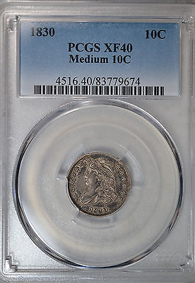 1830 Capped Bust dime, PCGS XF40