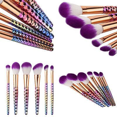 Makeup Brushes Powder Foundation Eyeshadow Eyeliner Lip Cosmetic Brush Purple