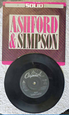 "Ashford & Simpson ‎– Solid  Vinyl, 7"", Single, 45 RPM"