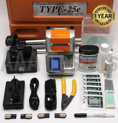 Sumitomo Type-25eM SM MM Ribbon Fiber Fusion Splicer w/ USF-21C Cleaver Type-25