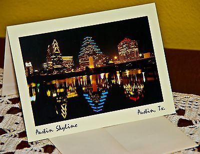 Austin Skyline Picture Note Cards/ Envelopes {95 cents each for 10 cards}