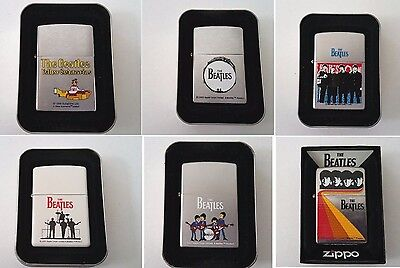 Zippo Lighter Lot 6: Shine Drum All Four Silhouette Yellow Submarine Playing New