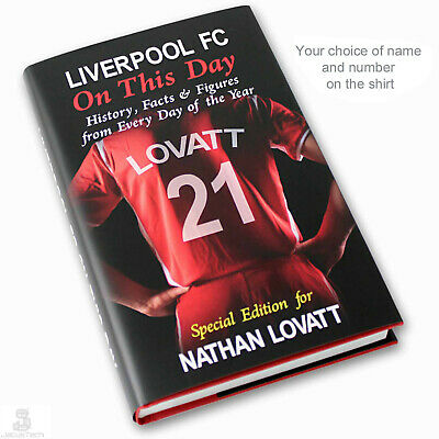 LIVERPOOL FC Book, PERSONALISED. On This Day Facts. Football Fan Birthday Gift