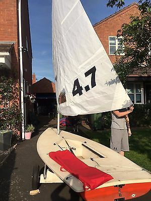 Laser 1 sailing dinghy new 4.7 rig and standard rig