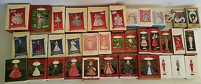HALLMARK KEEPSAKE BARBIE ORNAMENTS LOT of 36 Vintage in Box Excellent Condition
