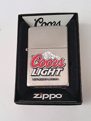 Zippo Lighter Coors Light Silver Bullet New in box 2009