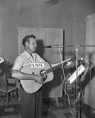 Jim Reeves Playing with His Guitar Recording at Acuff-Rose Publications Photo
