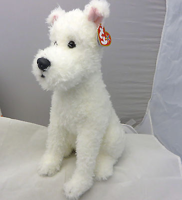"""TY BEANIE BABIES SNOWY THE DOG THE ADVENTURES OF TIN TIN LARGE 12"""" 2011 large"""