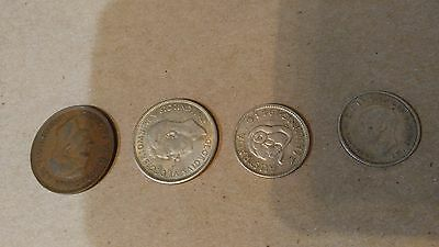 Lot of 4 Antique Old Coins from Australia 1938 1944 1942 1943
