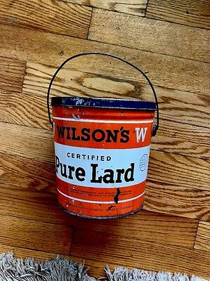 Vintage Wilson's Pure Lard Advertising Can-4 Lb. Size-Good Condition