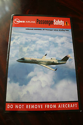 Safety Card Nwa Airlink Operated By Pinnacle Airlines Canadair Regional Jet
