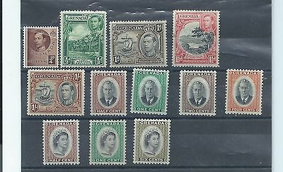 Grenada stamps. George VI & early QEII MH lot. (Y154)