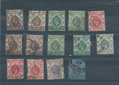 Hong Kong stamps. George V used lot. (Y596)
