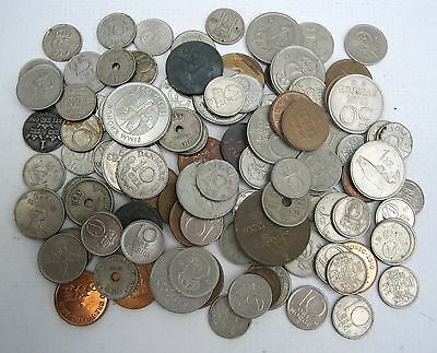 Mixed Lot Scandinavian Coins Mainly Norway & Sweden