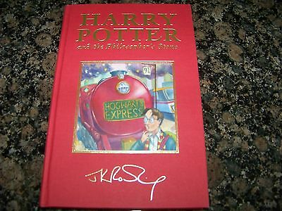 J K Rowling Harry Potter And The Philosophers Stone Signed First Edition Deluxe