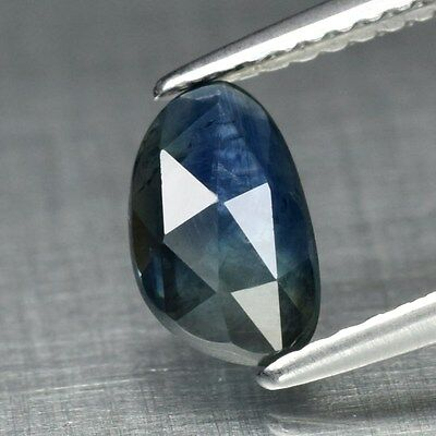 1.14ct 8.5x5mm Fancy Rose-Cut Natural Greenish Blue Sapphire, Heated Only
