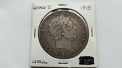 Silver 1819 George 111 Crown