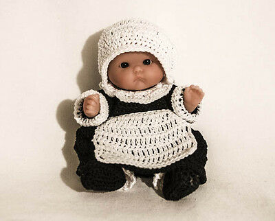 """Mrs Pilgrim  OUTFIT ONLY for the Itty Bitty Baby - 5"""" Berenguer"""