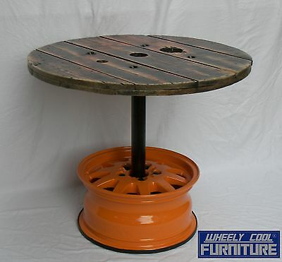 "Bar Table - Man Cave  - 15"" Wheel - Wheely Cool Furniture - Nrl Wests Tigers"