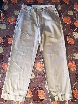Men's Cream 100% Cotton Polo By Ralph Lauren Polo G.I. Pants Chinos Size W32""