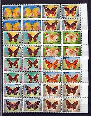 "2013,  Block of 4, ""MARIPOSAS, BUTTERFLIES, FAUNA, INSECTS , "" MINT"