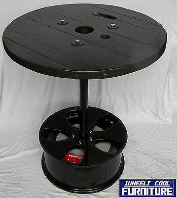 "Bar Table - Man Cave - Games Room - 20"" Mag - Black - Wheely Cool Furniture"