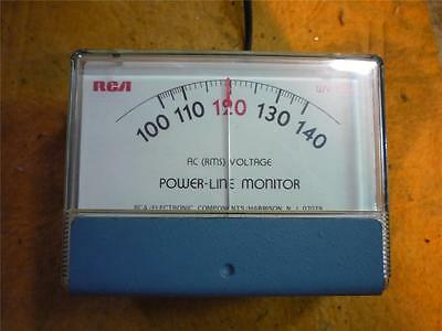 RCA LINE MONITOR  AC VOLTMETER Works Good