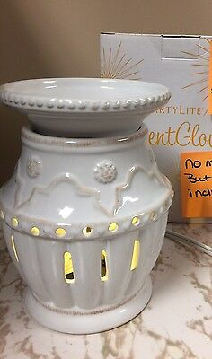 Partylite Villa Bianca Scent Glow Warmer Aroma Melts Warmer Electrical P90603