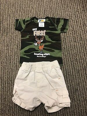 Lot of 2 Items Shirt And Short Toddler Baby Boy 6 Months