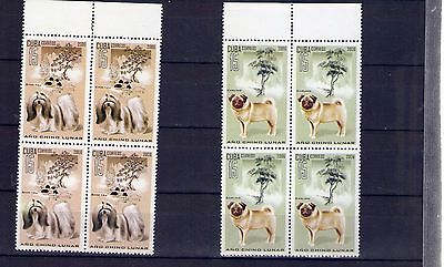 "2006,  Block of 4, ""AÑO CHINO LUNAR, LUNAR CHINESE YEAR, PERROS, DOGS "" MINT"