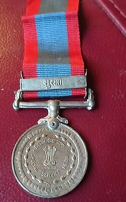 India Army Special Service Medal Named Clasp SURAKSHA
