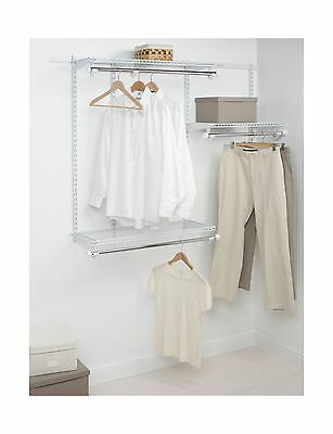 Rubbermaid 3E24 Configurations 3- to 6-Foot Starter Custom Closet Kit White