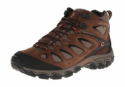 Merrell Men's Pulsate Mid Waterproof Hiking Shoes Black/ Bracken 10 M US