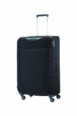 Samsonite Base Hits 28-Inch Expandable Spinner Suitcase Black Checked Large
