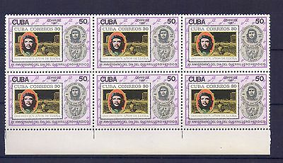 "1987,  Block of 6 STAMPS, ""CHE GUEVARA"""