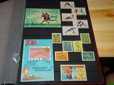 1960-70 KOREA. SPORTS. FULL PAGE of SETS+ SHEETS. UNUSED/ MNH