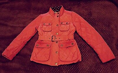 Girls Next pink quilted jacket age 7-8