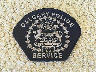 Calgary SWAT Tactical ERT police patch subdued blue gray