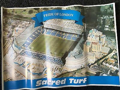 Chelsea FC Poster old Stamford Bridge The Shed CFC Headhunters Ultras Supporters