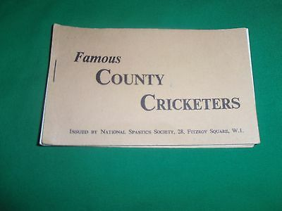 Very RARE Famous COUNTY CRICKETERS 24 cards 1958 vintage booklet fred trueman