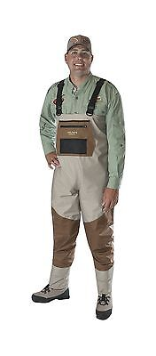 Caddis Men's Attractive 2-Tone Tauped Deluxe Breathable Stocking Foot Wader L...