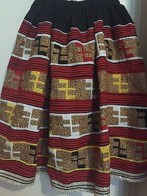 "Seminole Patchwork  Skirt 12 Yards Of Patchwork ""man On 🐎"" New!!! ❤️"
