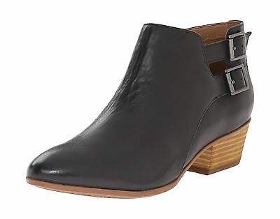 Clarks Women's Spye Astro Ankle Boot Black Leather 6.5 M US