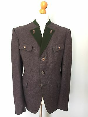 Vintage Loden Wool Jacket And Waistcoat Size 42