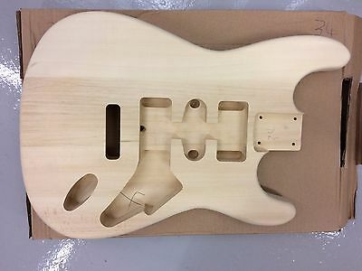 """NEW ELECTRIC S GUITAR BODY, SOLID BASSWOOD, 41MM THICK, 25.5"""" SCALE, No"""