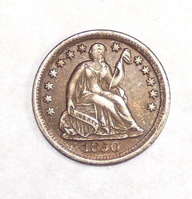 1850-O Liberty Seated Half Dime VERY FINE Silver 5c