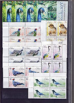 "2013, Block of 4 + 4 sheets, ""AVES, BIRDS  """
