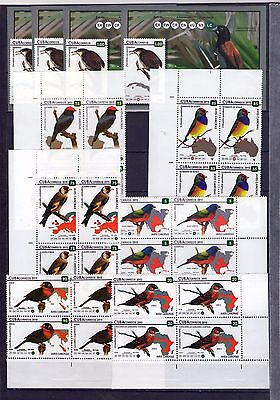 "2015, Block of 4 + 4 sheets, ""AVES CANORAS, BIRDS  """