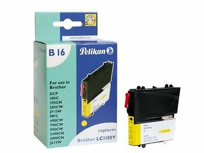 Pelikan - Cartouche compatible pour Brother LC 1100 Y 8ml [B16] [Jaune] NEUF